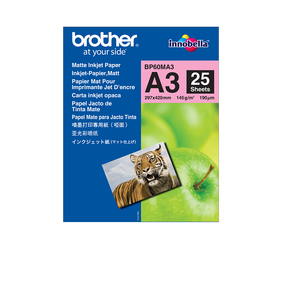 Brother original BP60MA3  Matt A3 -Inkjet papper