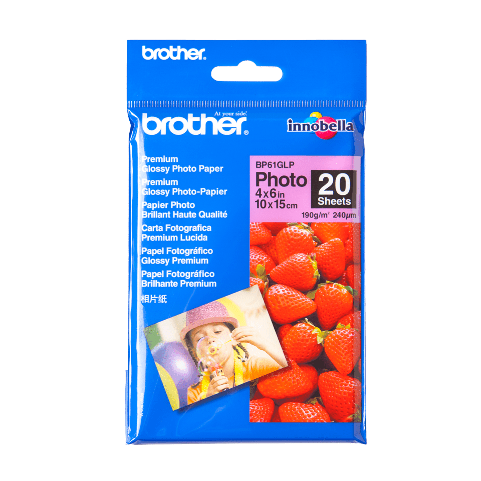 Genuine Brother BP61GLP Glossy 10cm x 15cm Photo Paper