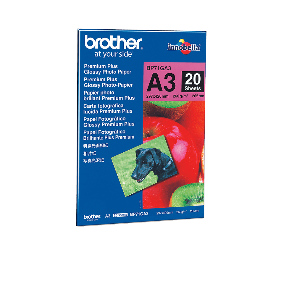 Brother original BP71GA3 blankt fotopapper A3