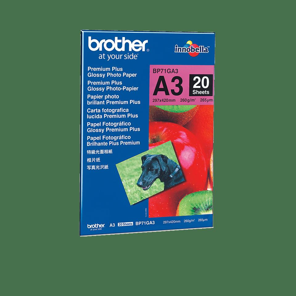 Brother original BP71GA3 blankt fotopapper A3
