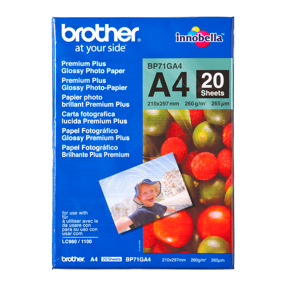 Brother original BP71GA4 blankt fotopapper A4