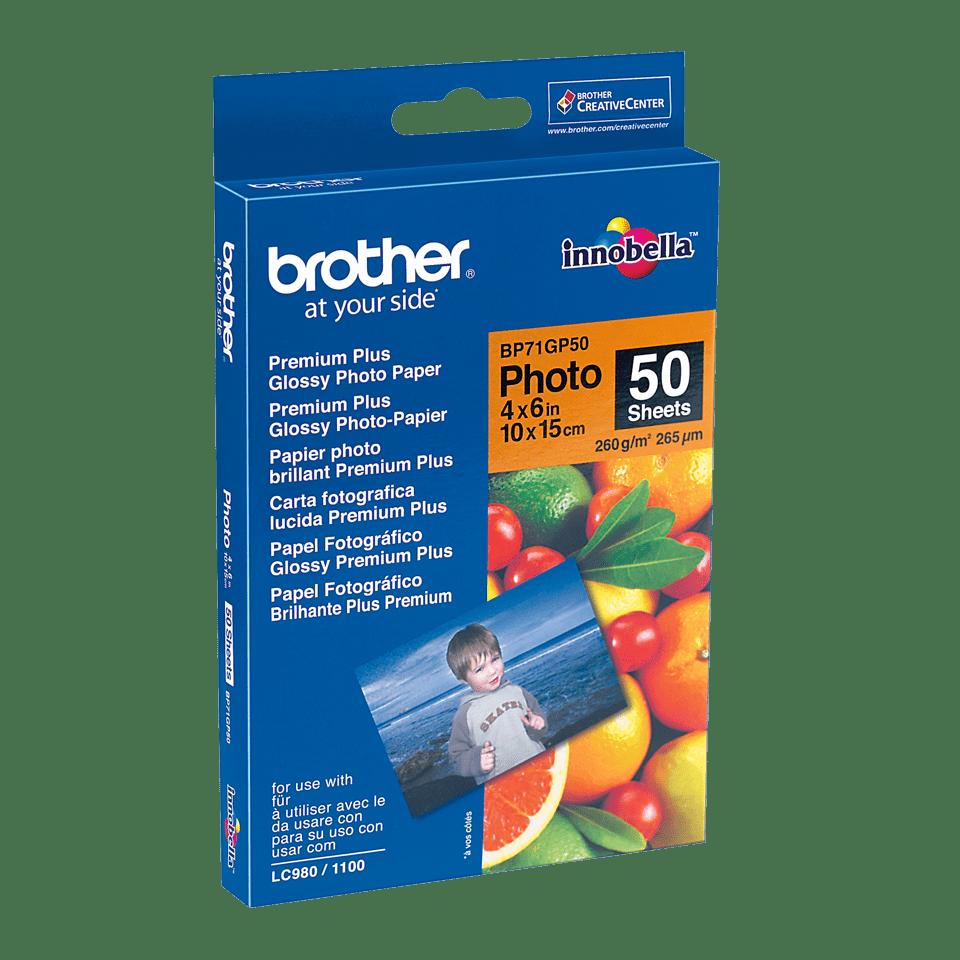Brother original BP71GP50 blankt fotopapper 10 cm x 15 cm