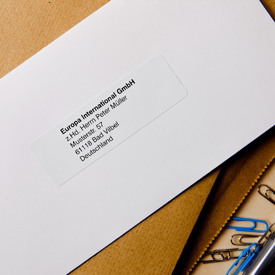 Brother DK-11201 original standard adressetiketter – svart på vit, 29 mm x 90 mm  2