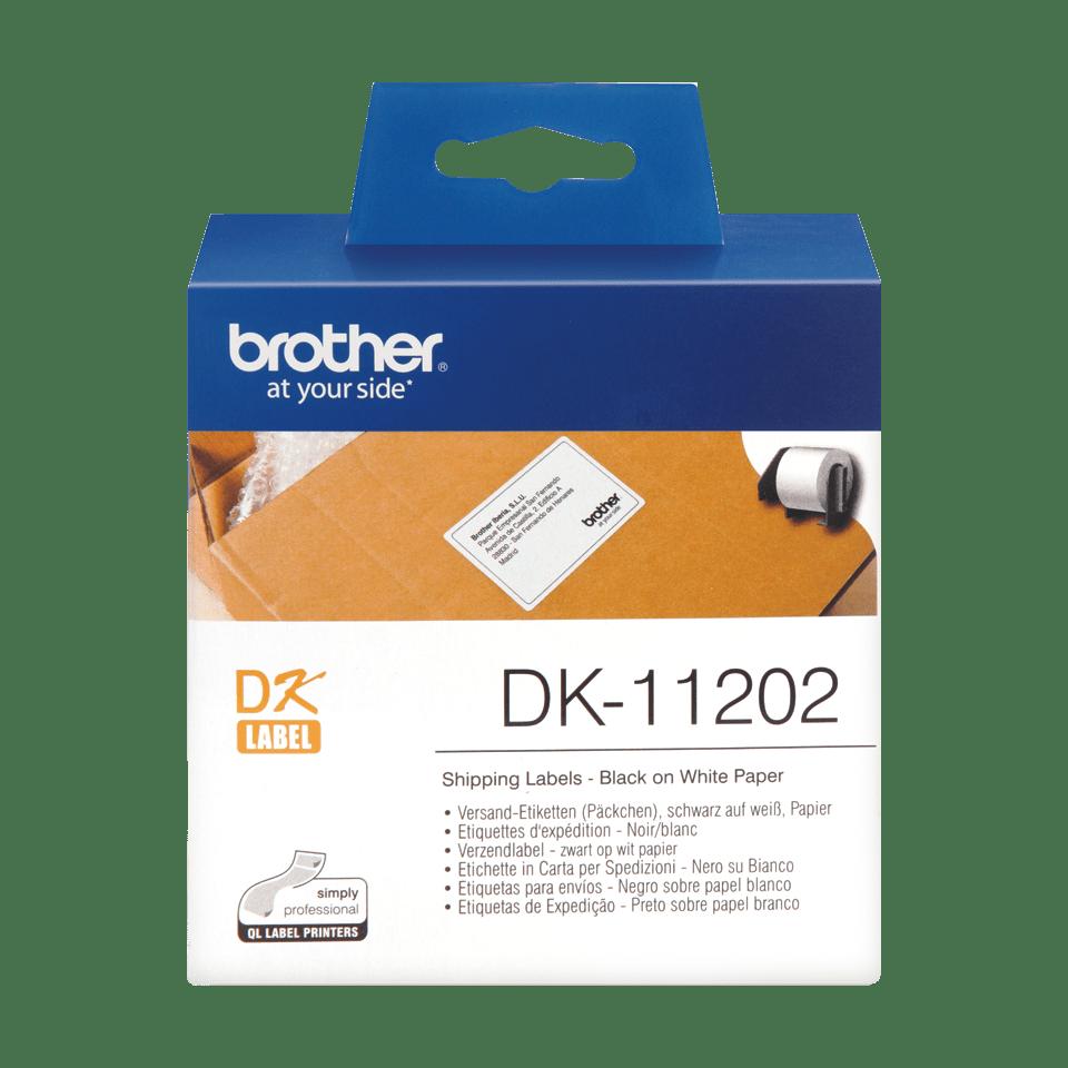 Brother original DK-11202  fraktetiketter - svart på vit 62 mm x 100 mm