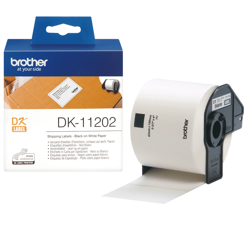 Brother original DK-11202  fraktetiketter - svart på vit 62 mm x 100 mm