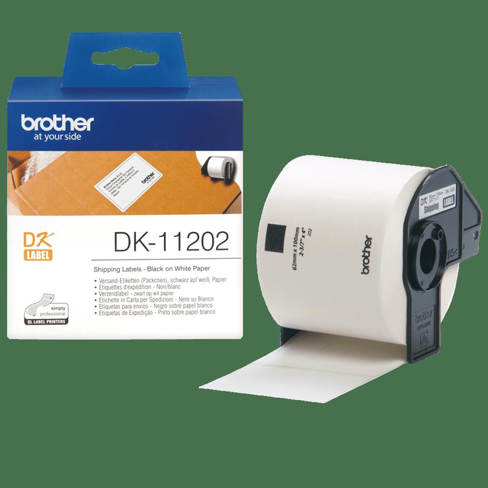 Brother original DK-11202  fraktetiketter - svart på vit 62 mm x 100 mm 3