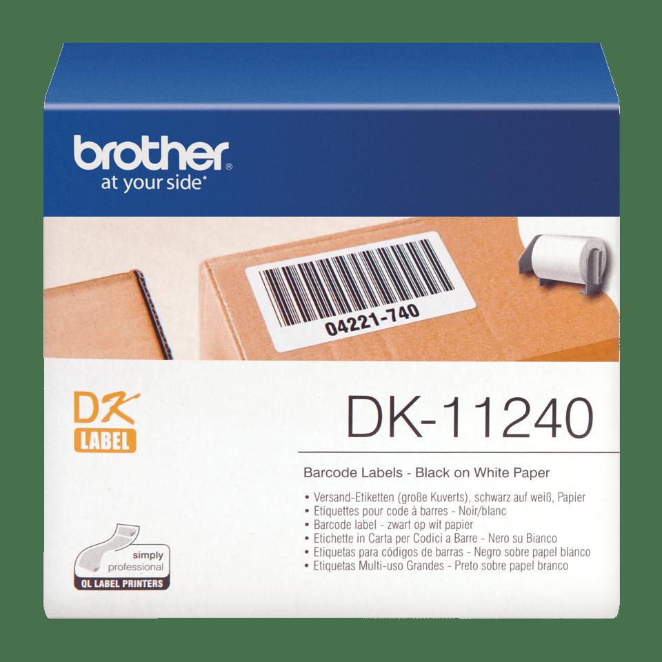 Brother original DK11240, etikettrulle, svart på vit, 102 mm x 51 mm