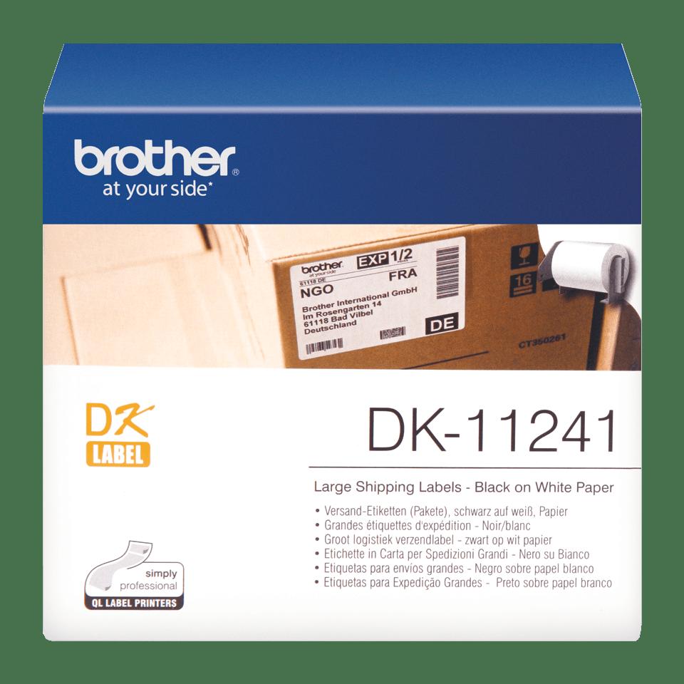 Brother original DK11241, etikettrulle, svart på vit, 102 mm x 152 mm