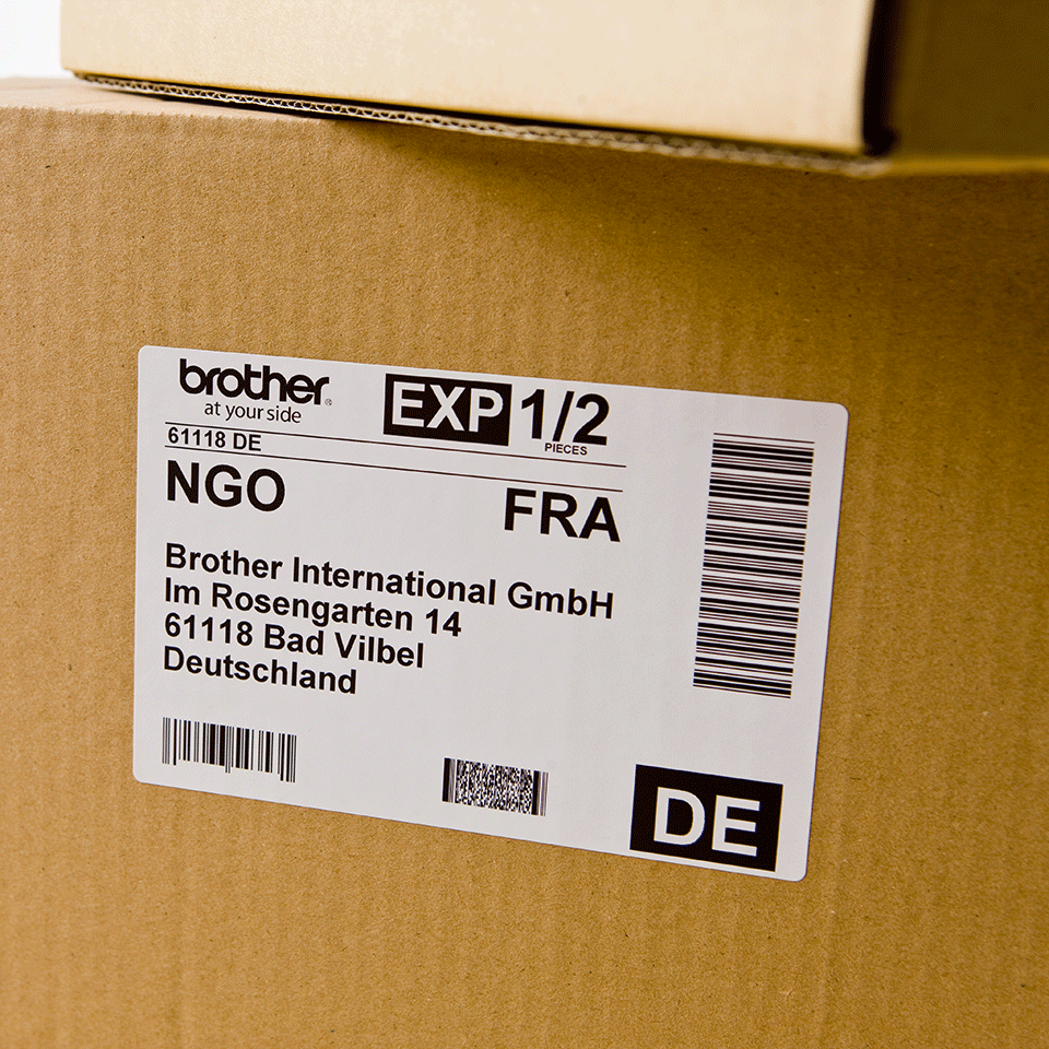 Brother original DK11241, etikettrulle, svart på vit, 102 mm x 152 mm 2