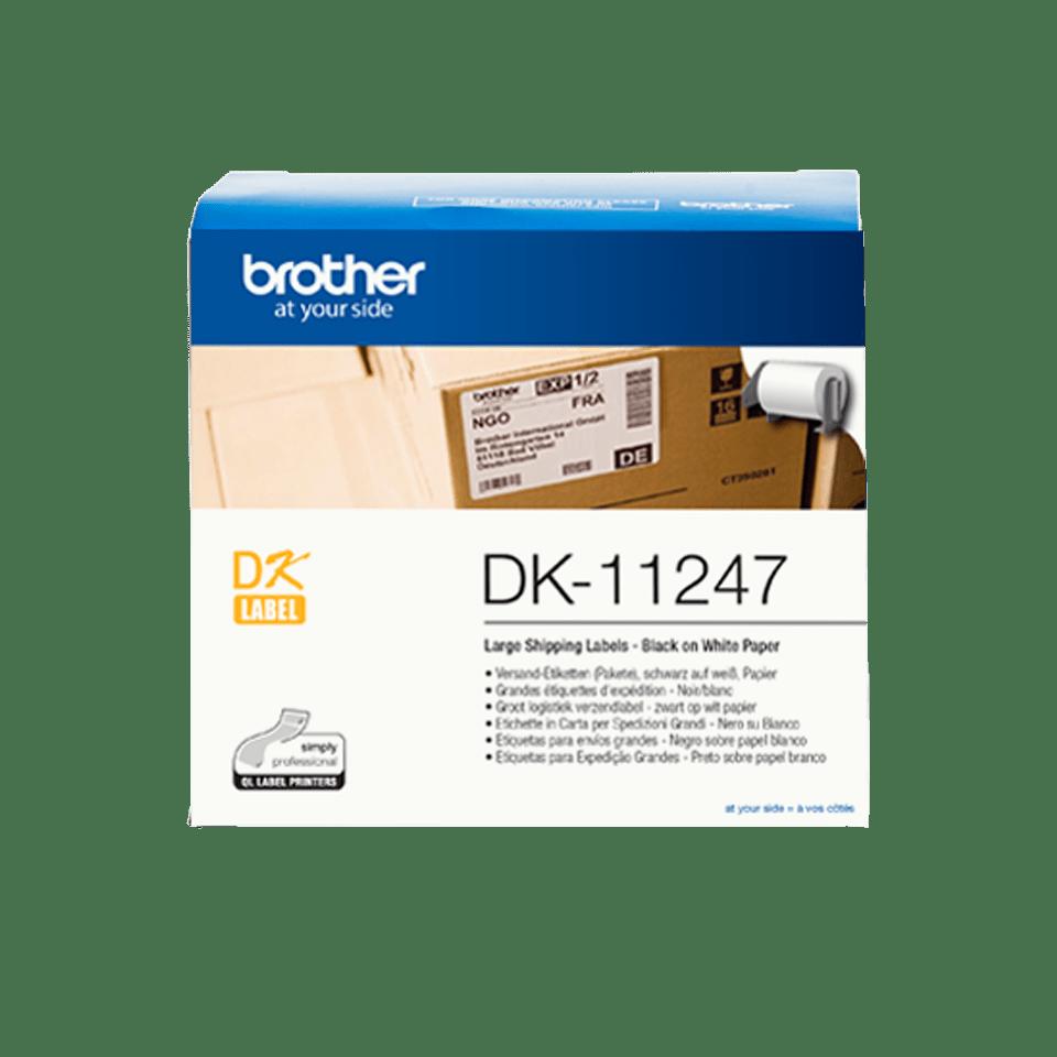 Brother DK-11247 original etikettrulle – Svart på vit