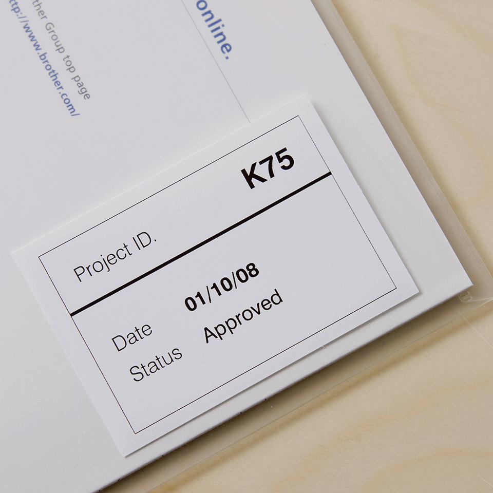 Brother original DK-22212 vit fortlöpande tape med plastfilm - Svart på vit, 62 mm 2