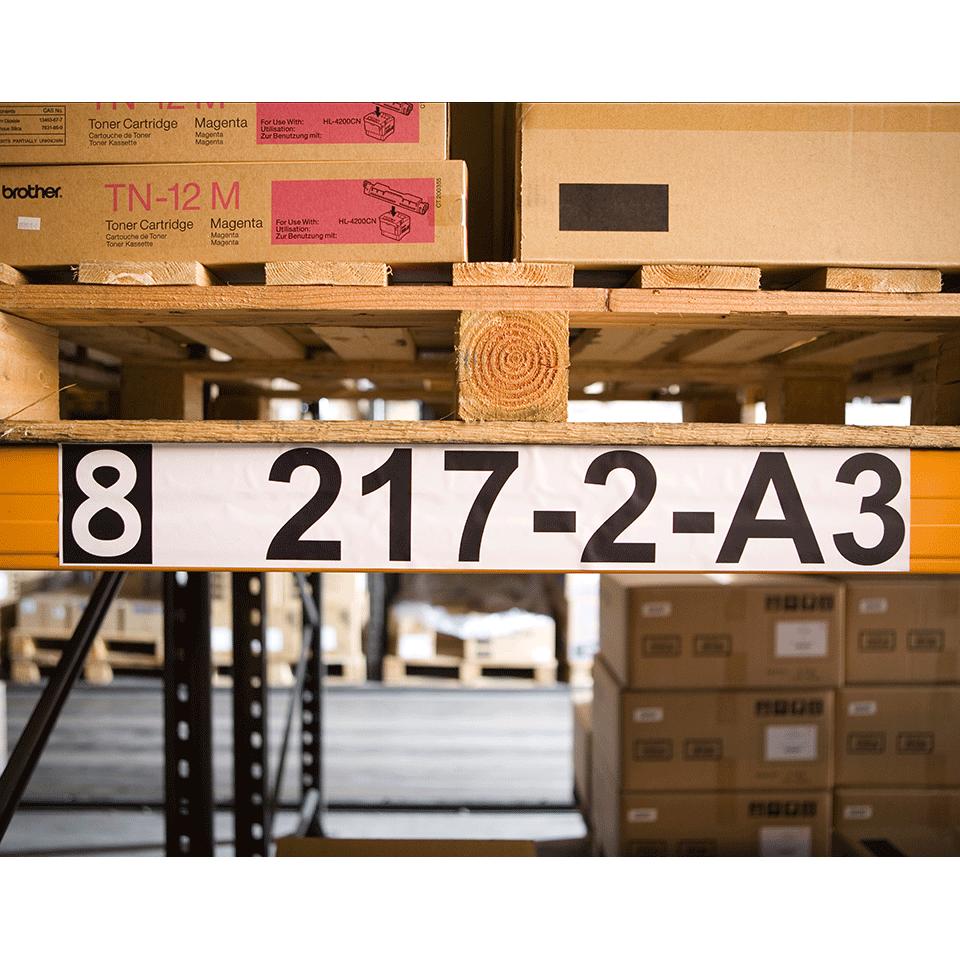 Brother original DK22243, etiketter på fortlöpande rulle, svart på vit, 102 mm  2
