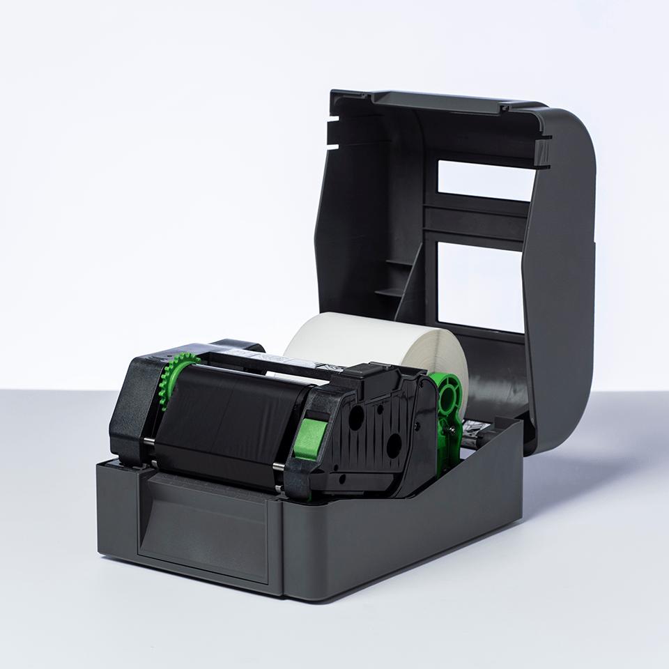 Etikettrulle BUS-1J150102-121, formklippta, vita, obelagda etiketter för termotransferteknik 2