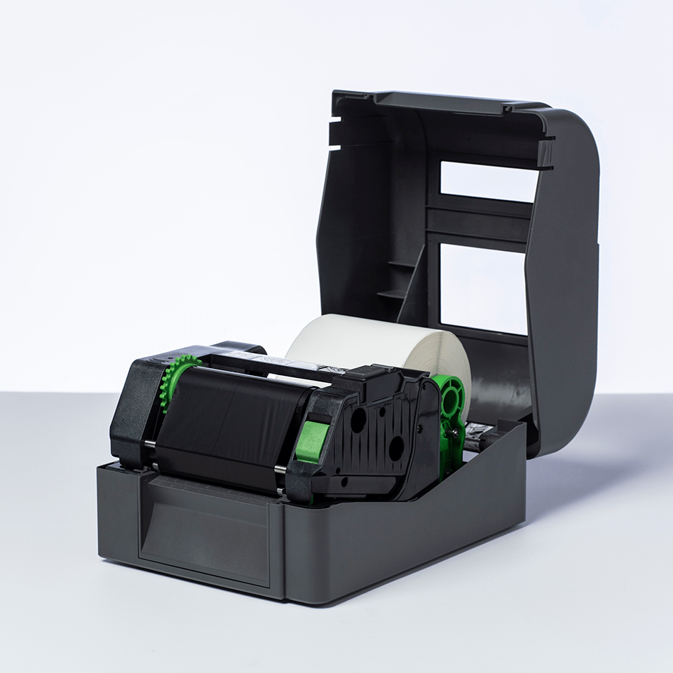 Svart färgband BSS-1D300-110 i standardvax/-harts för termotransferteknik 2