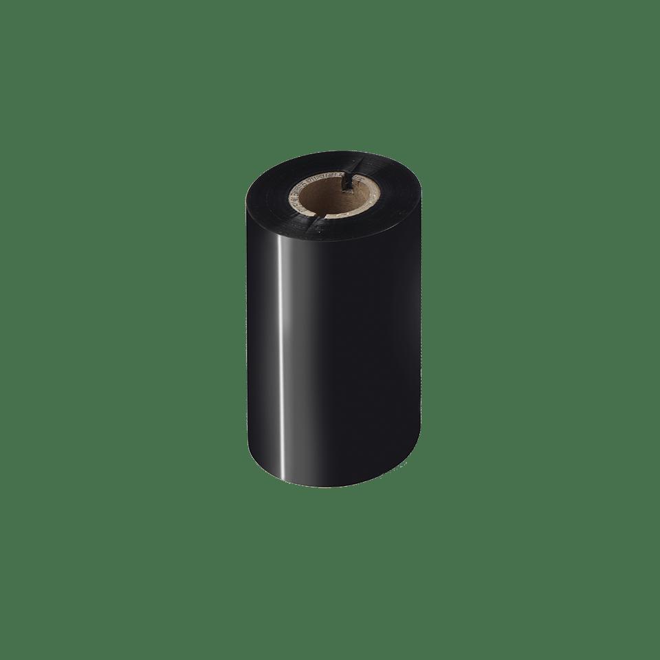 Svart färgband BSS-1D300-110 i standardvax/-harts för termotransferteknik