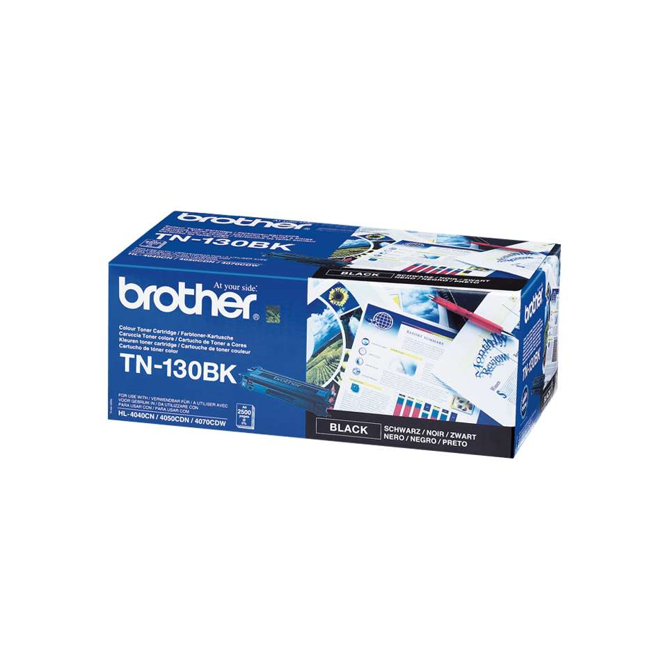 Brother original TN130BK tonerkassett – svart