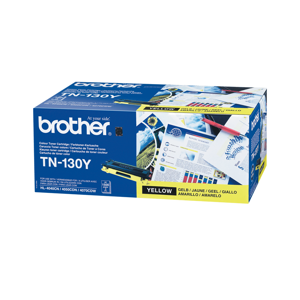 Brother original TN130Y tonerkassett – gul
