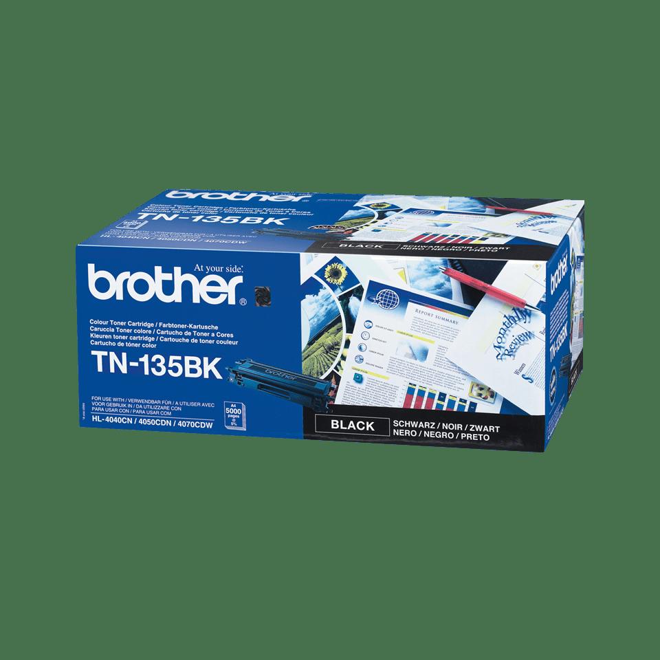 Brother original TN135BKtonerkassett med hög kapacitet – svart