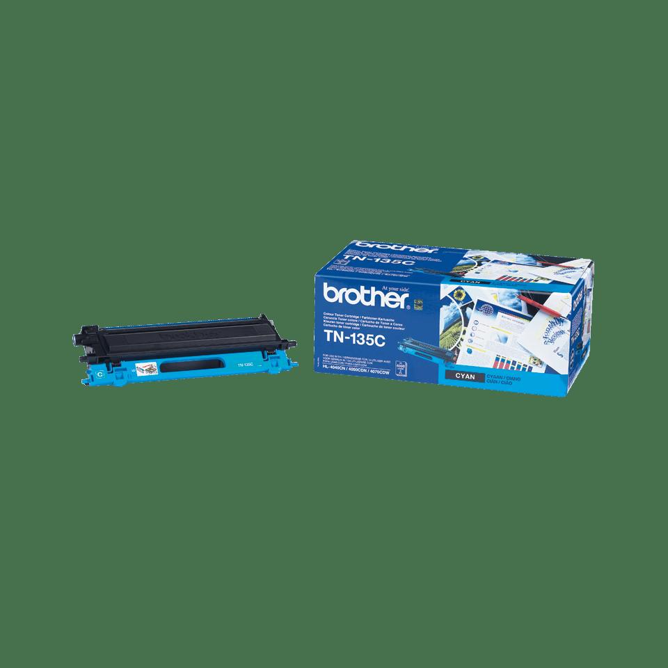Brother original TN135Ctonerkassett med hög kapacitet – cyan 2
