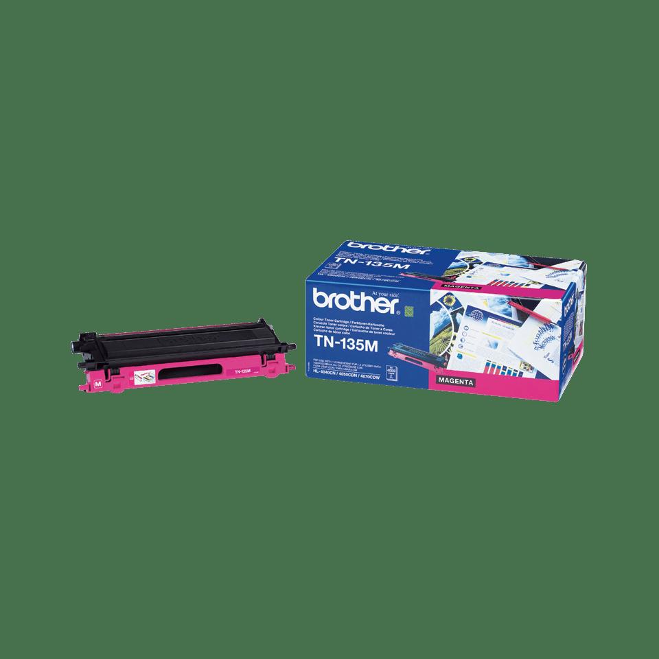 Brother original TN135Mtonerkassett med hög kapacitet – magenta