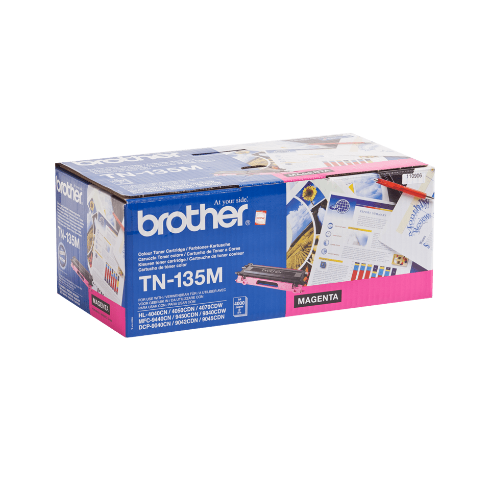 Brother original TN135Mtonerkassett med hög kapacitet – magenta 2