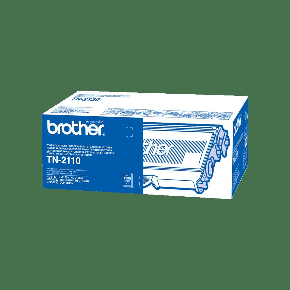 Brother TN-2110 original tonerkassett - Svart