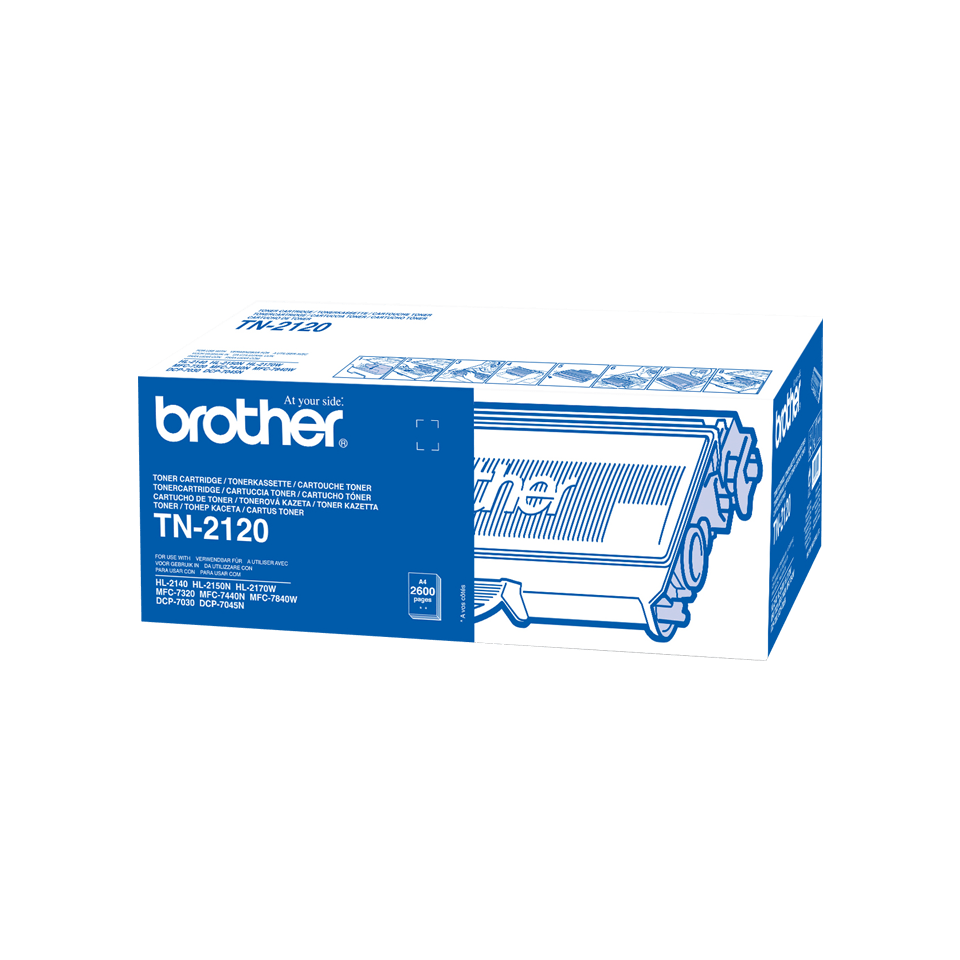 Brother TN2120 original hög kapacitet tonerkassett – svart