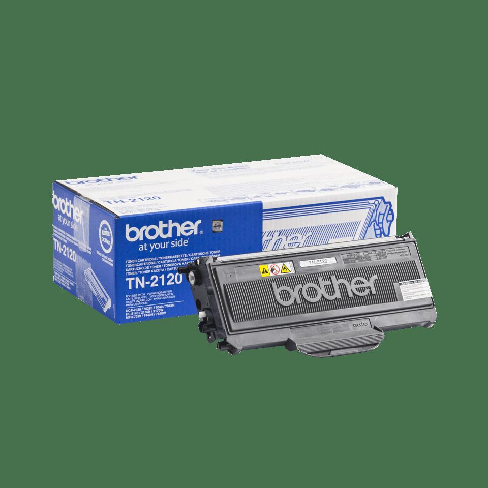 Brother TN2120 original hög kapacitet tonerkassett – svart  2