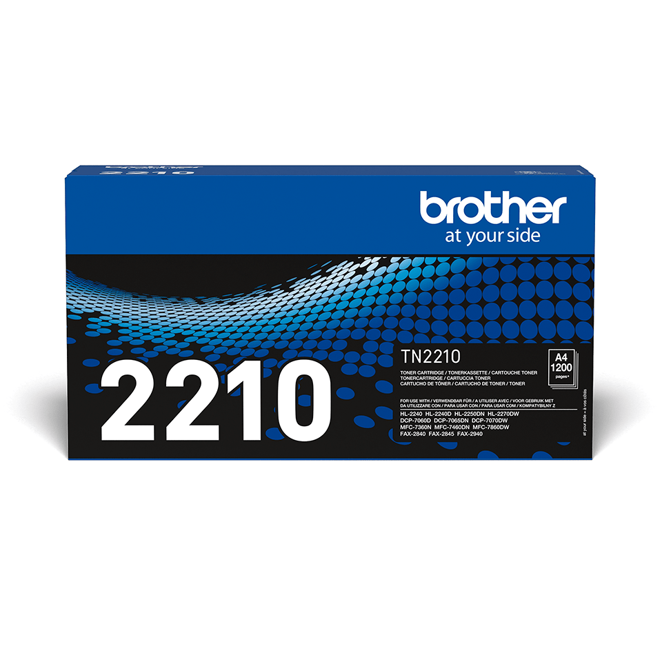 Brother TN2210 original tonerkassett – svart 2