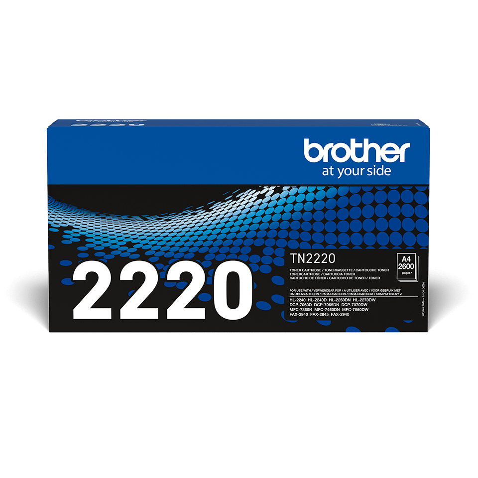 Brother TN2220 original tonerkassett – svart