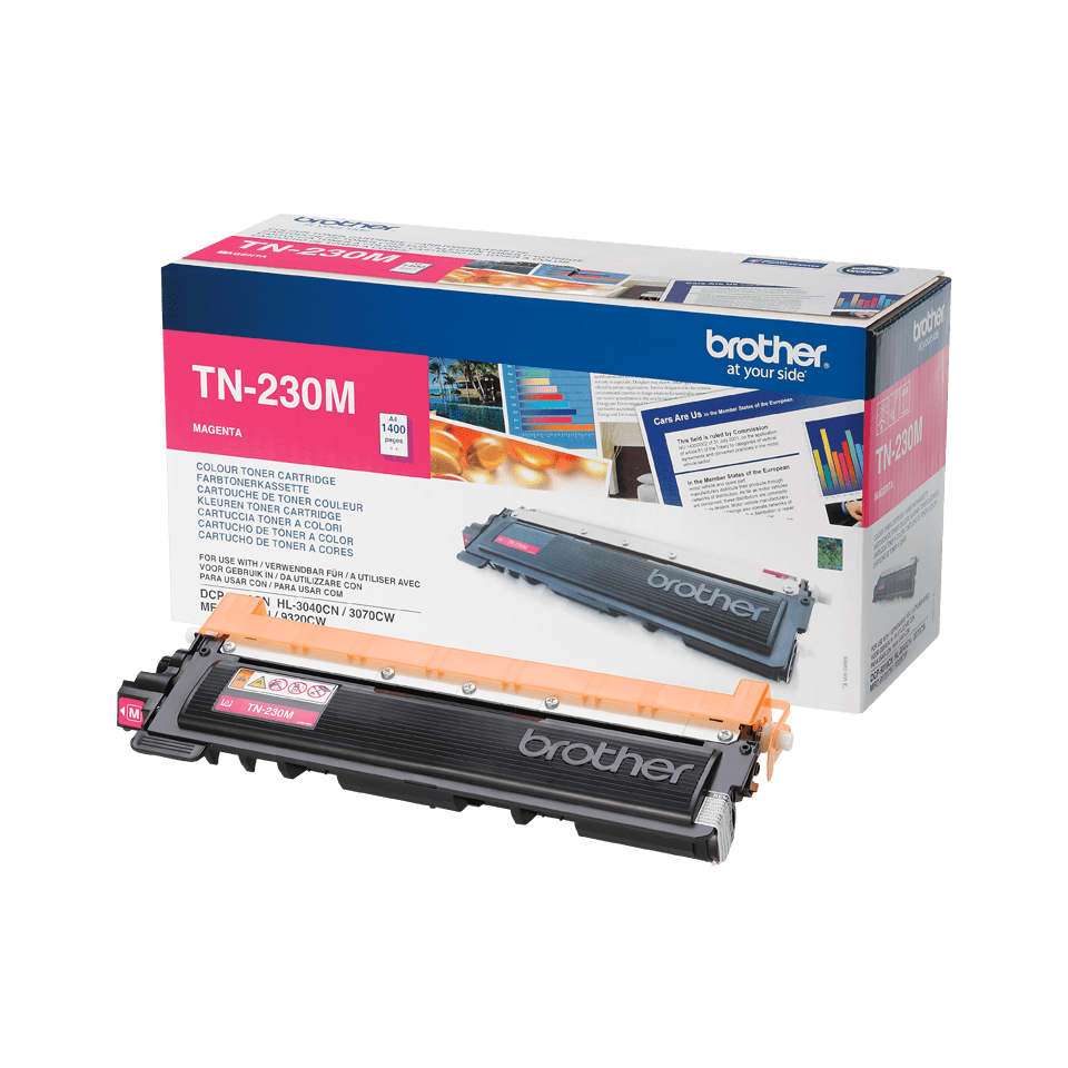 Brother TN230M original tonerkassett – Magenta