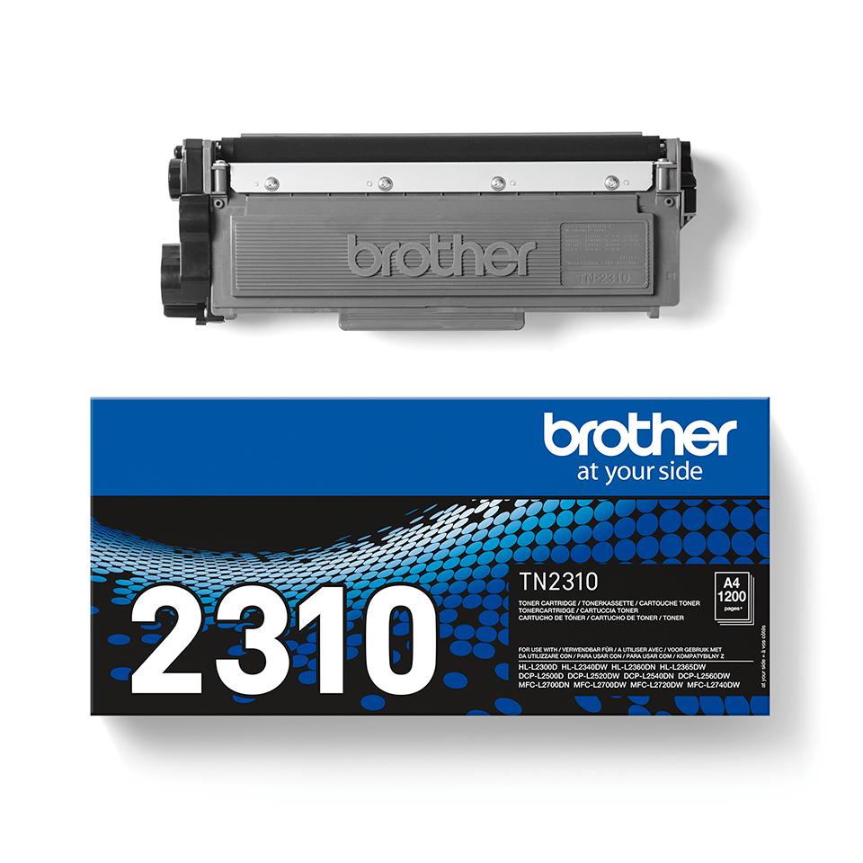 Brother TN2310  original tonerkassett – svart 2