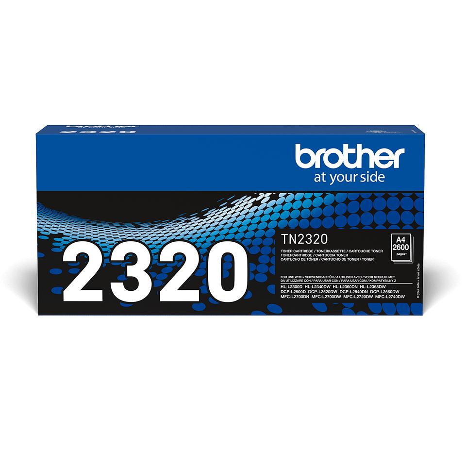 Brother TN2320 original tonerkassett – svart