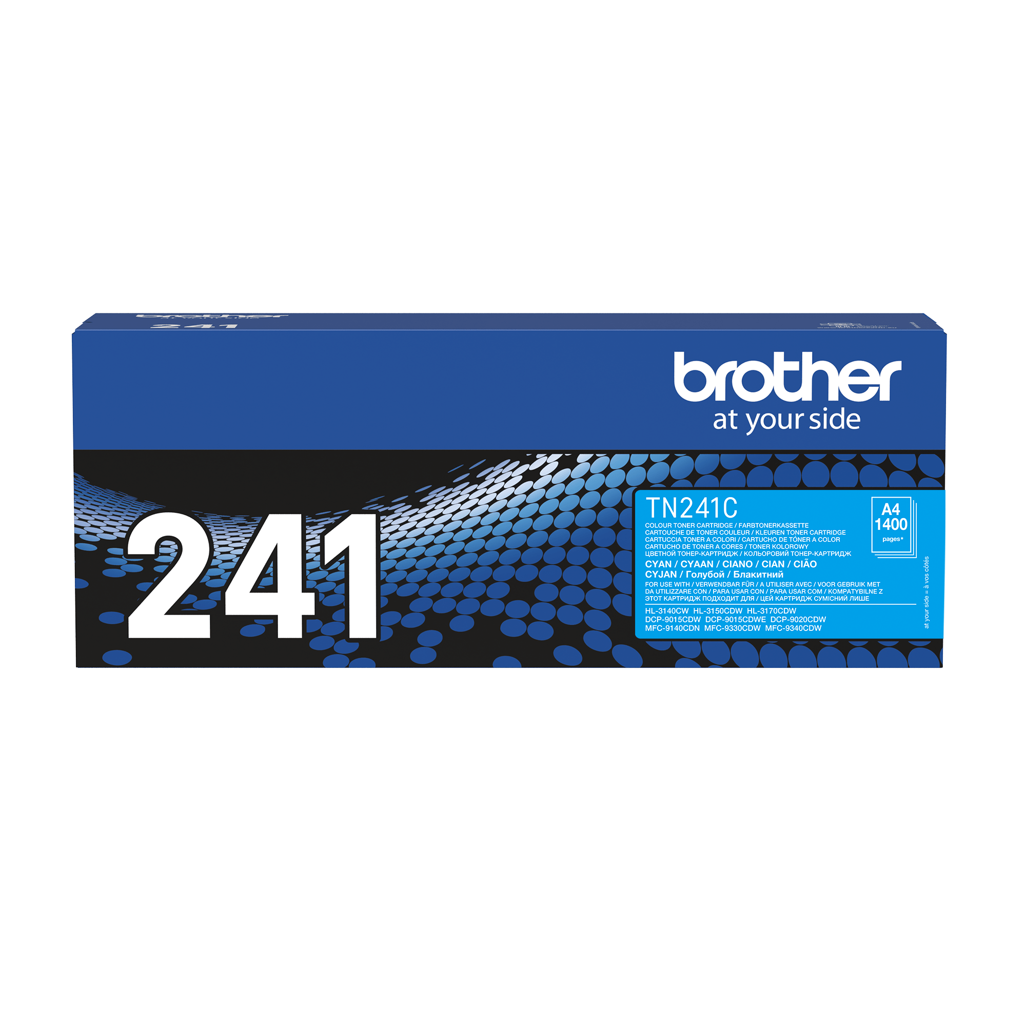 Brother original TN241C tonerkassett – Cyan