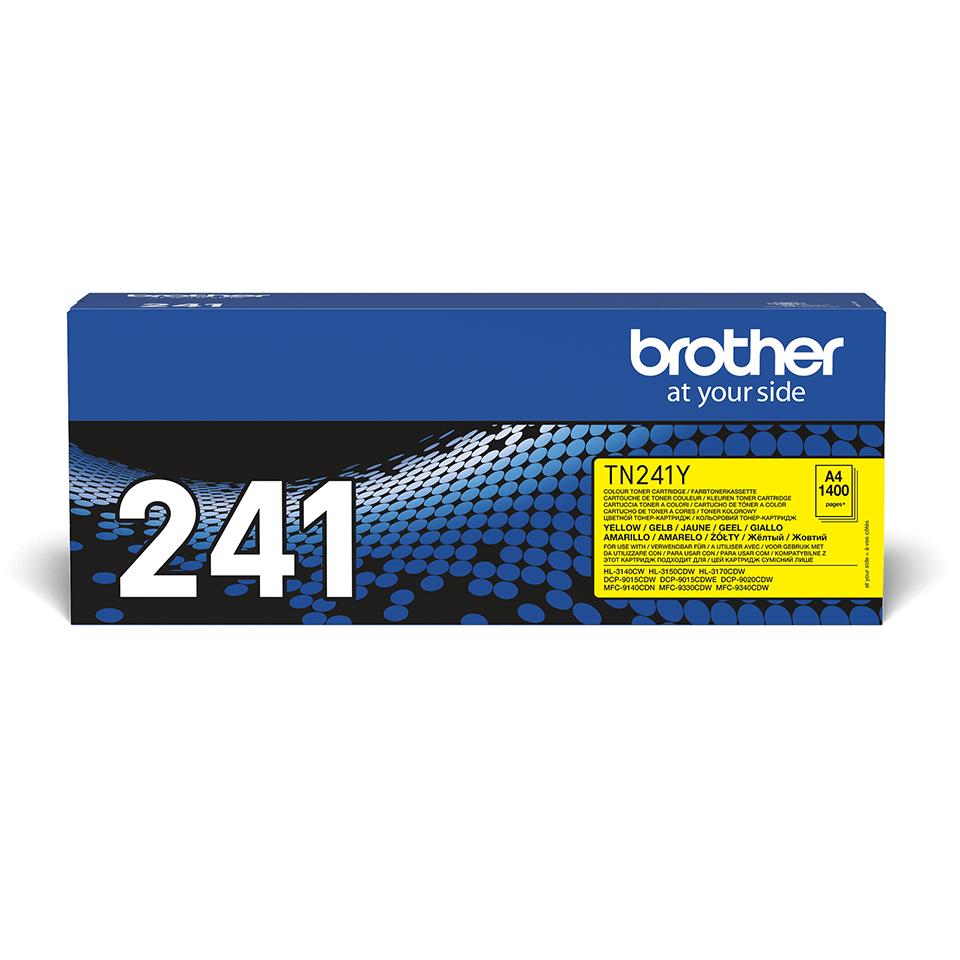 Brother original TN241Y tonerkassett – Gul 2