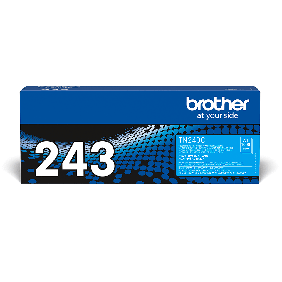 Brother TN243C  original tonerkassett - Cyan