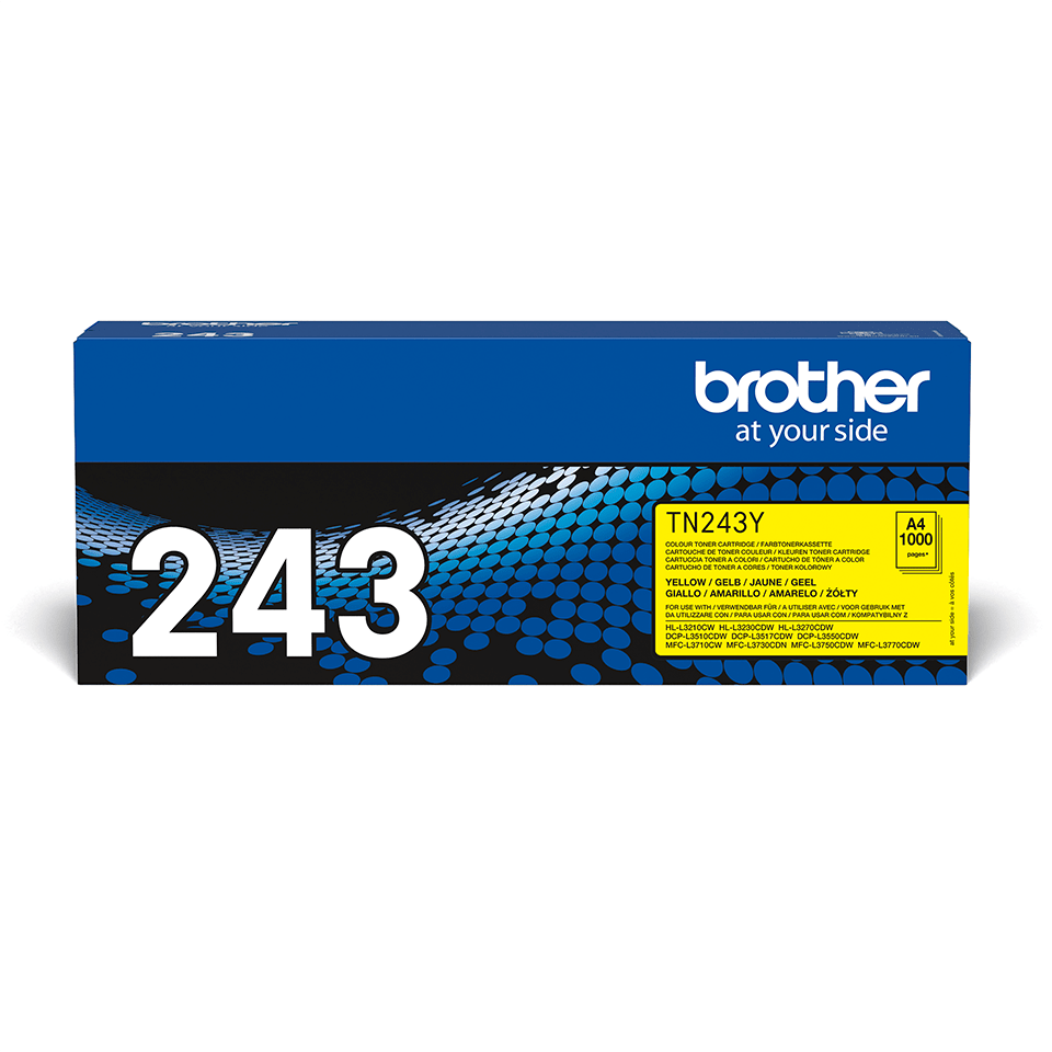 Brother TN243Y original tonerkassett - gul 2