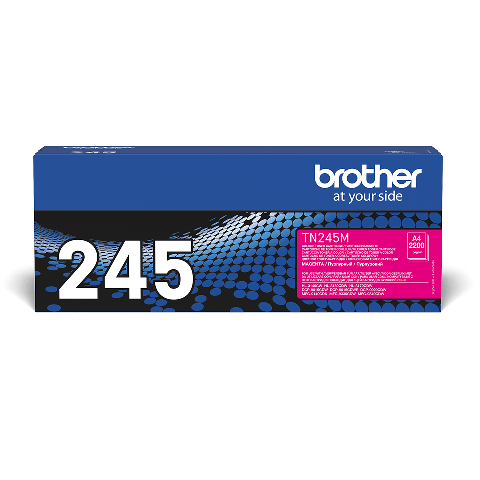 Brother TN245M original tonerkassett – Magenta