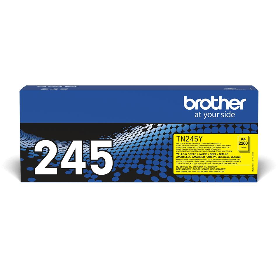 Brother TN245Y tonerkassett – Gul 2