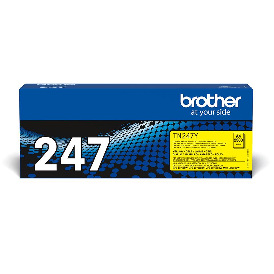 Brother TN247Y original tonerkassett- gul 2