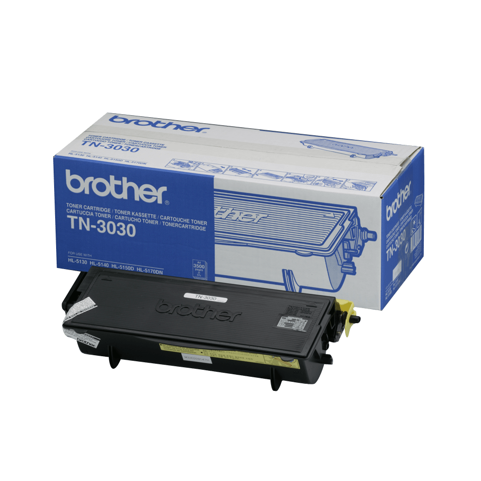 Brother TN-3030 original tonerkassett med hög kapacitet - Svart