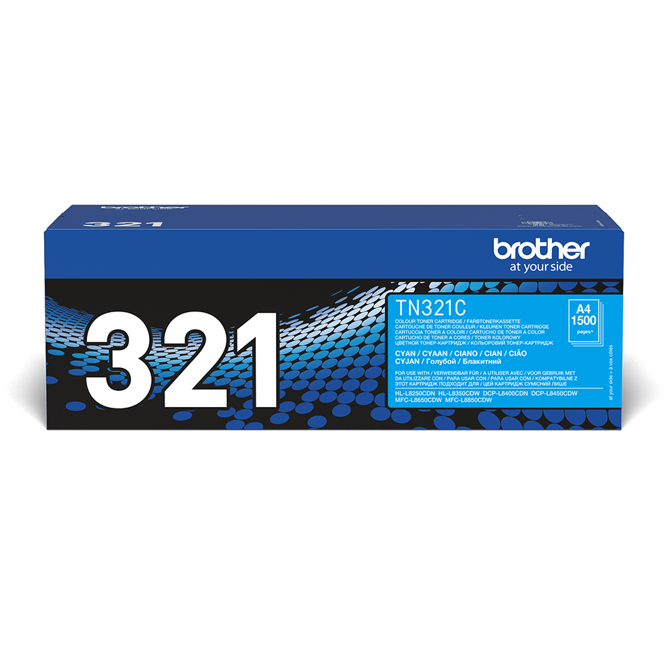 Brother TN321C original tonerkassett – Cyan