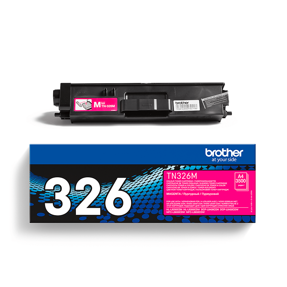 Brother original TN326M tonerkassett – Magenta 2