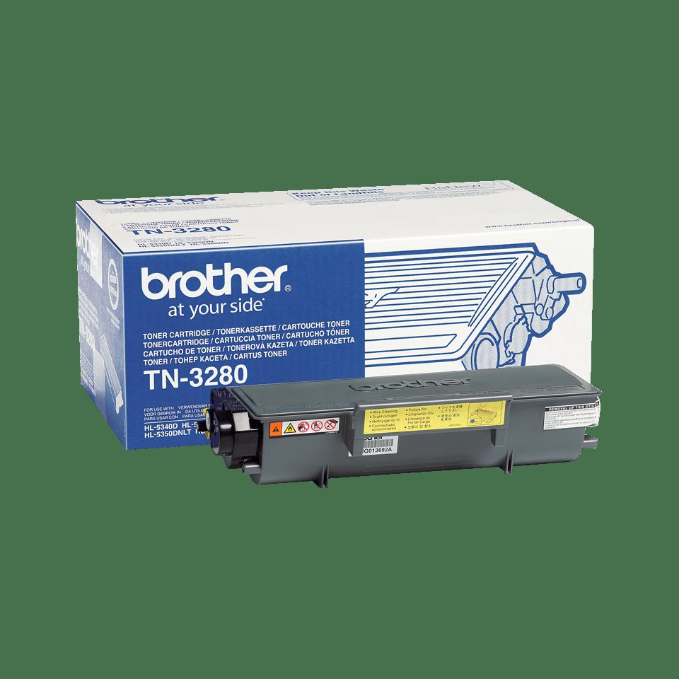 Brother TN3280 original tonerkassett hög kapacitet – svart