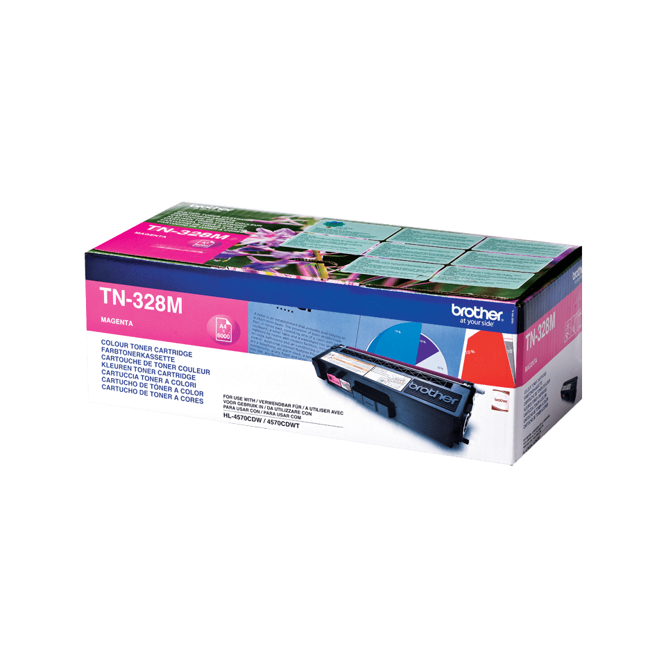 Brother original TN328M tonerkassett – magenta