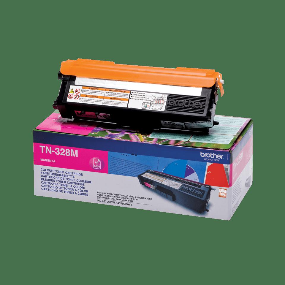 Brother original TN328M tonerkassett – magenta 2