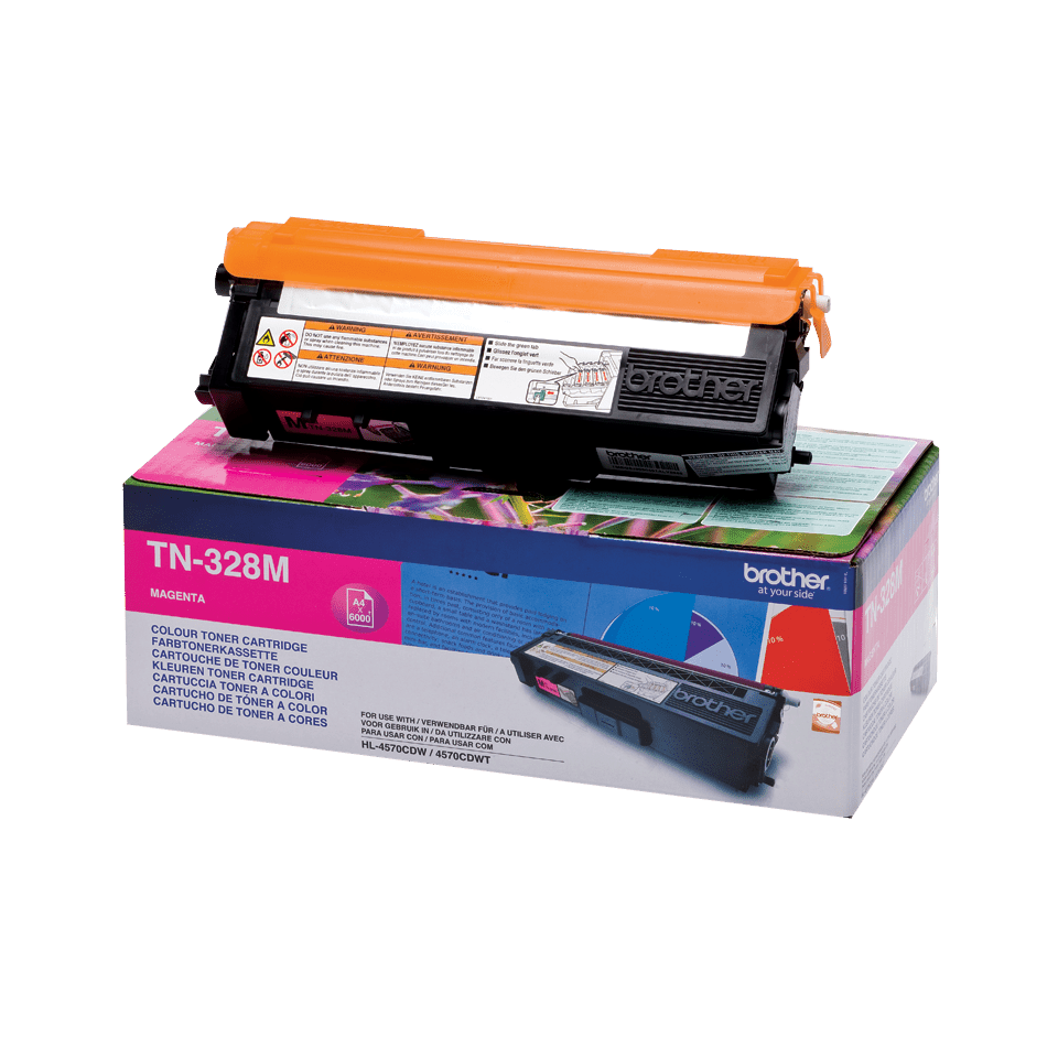 Brother original TN328M tonerkassett – magenta 2