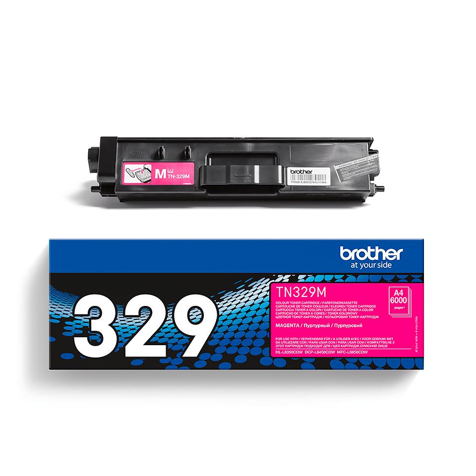 Brother original TN329M tonerkassett – magenta 2