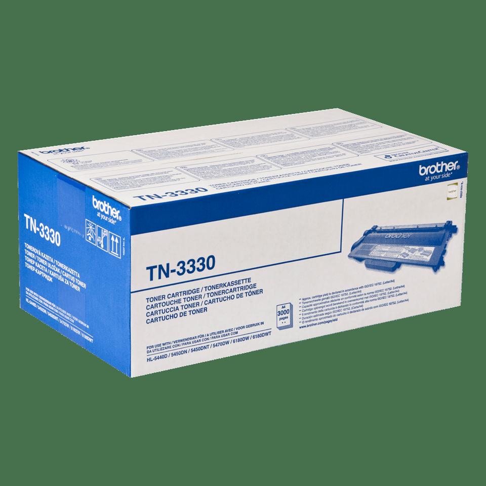 Brother TN-3330 original tonerkassett -  Svart