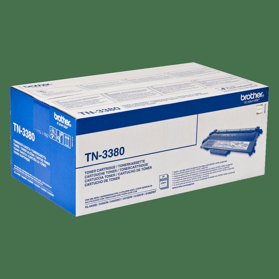Brother TN3380 original tonerkassett – svart  2